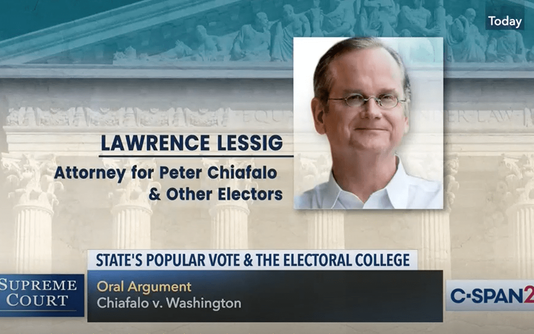 Harvard Law Today: Lessig, who argued on behalf of 'faithless electors,' responds to the Supreme Court's decision